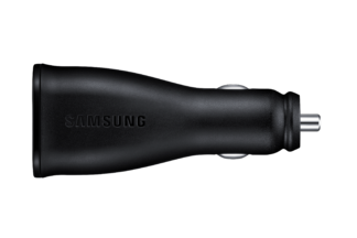Samsung Black Dual Port AFC In-Car Charger with MicroUSB Cable